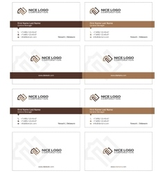 Square meter business card 2 vector
