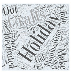 Holiday crafts word cloud concept vector