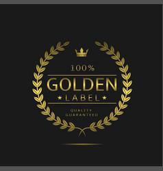 golden label sign vector image