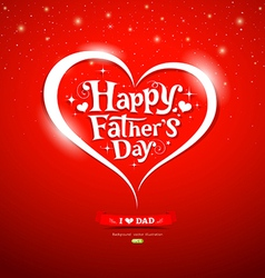 Happy father day lettering greeting card vector
