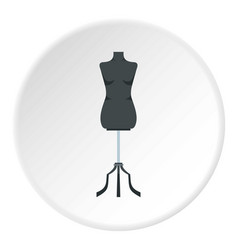 sewing mannequin icon circle vector image