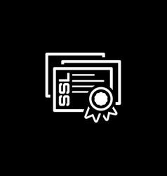 Ssl certificates icon flat design vector