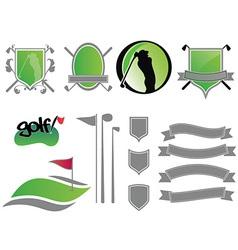 golf logos vector image