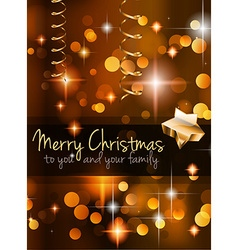 2015 Christmas Golden Background vector image