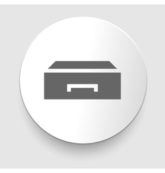 Flat style - drawer icon vector