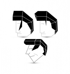 heads vector image