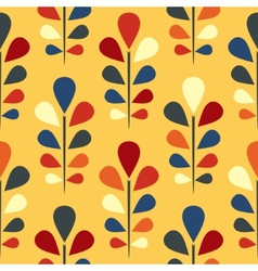 Abstract seamless floral pattern eps 8 vector