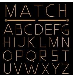 Matches Alphabet vector image