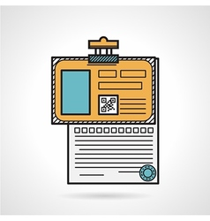 Flat icon for patient paper vector