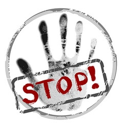 background with stop sign vector image