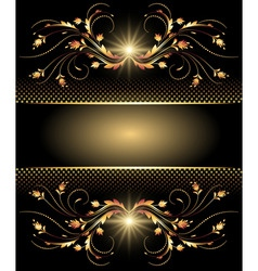 golden ornment template vector image