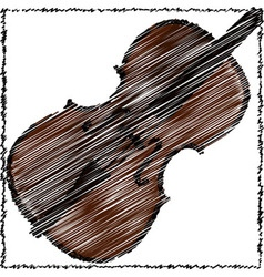 a cello vector image