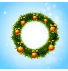 Christmas wreath christmas decoration vector