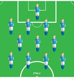 Computer game italy football club player vector