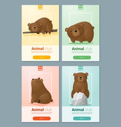 Animal banner with bears for web design 2 vector