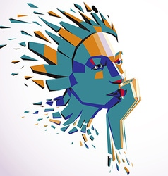 Smart person concept human head exploding and vector