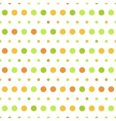 pattern colorful polka dots on white vector image
