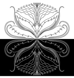 Abstract decorative rosette vector image vector image
