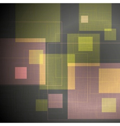 Abstract tech squares design vector image vector image