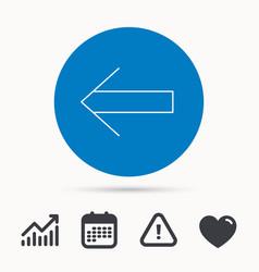 Back arrow icon previous sign vector