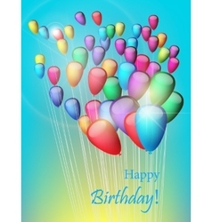 Background with colorful balloons in the sky vector image vector image