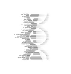 binary dna vector image