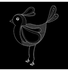 Bird Coloring page with zentangled bird vector image vector image