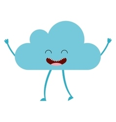 Cloud character cute icon vector