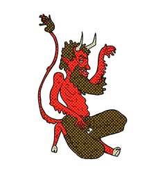Comic cartoon traditional devil vector