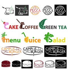 Different food logo vector