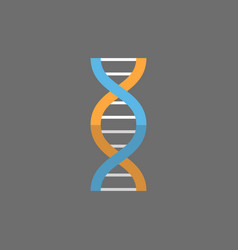 dna molecule icon medicine care concept vector image