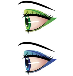 Eyes in profile vector