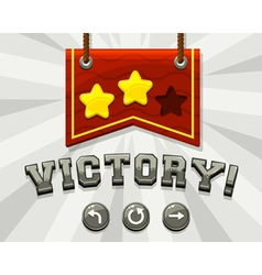 Game victory screen vector image