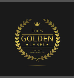 golden label sign vector image vector image