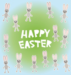 Happy Easter card design vector image vector image