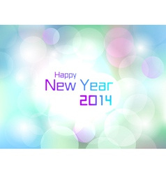 Happy New Year colorful flare light background vector image