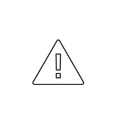 Hazard warning attention thin line icon linear vector