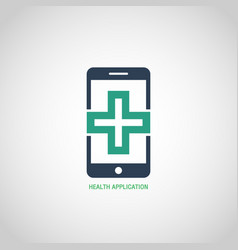 health application logo icon design vector image vector image