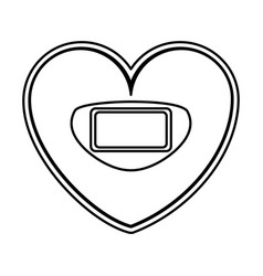 Heart shaped scale balance digital icon vector