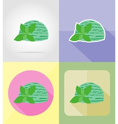 ice cream flat icons 13 vector image vector image