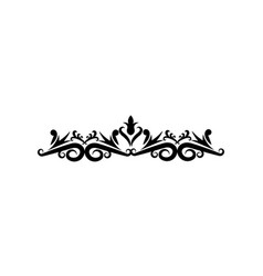 Ornate floral corner and border heraldic classic vector
