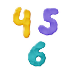 Plasticine clay numbers vector