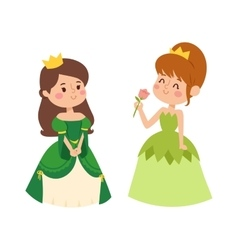 Princess set vector image vector image