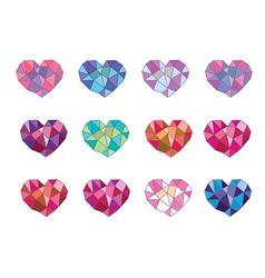 set geometry heart vector image vector image