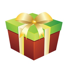 Two colored gift box vector image vector image