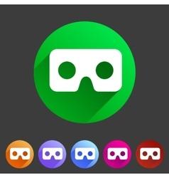 Virtual reality cardboard goggles glasses icon vector image