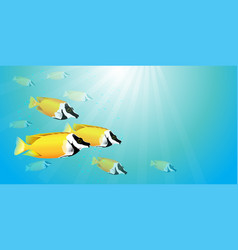 yellow fish in water vector image vector image