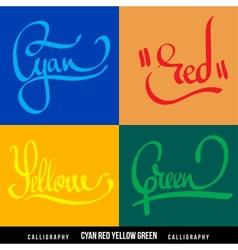 colors hand lettering vector image