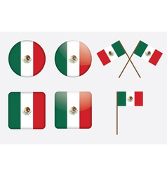 Badges with flag of mexico vector