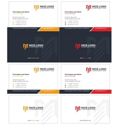 me logo business card 1 vector image